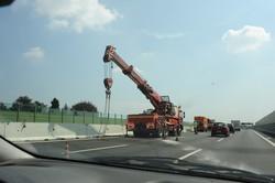 Lomazzo,incidente in autostrada. Tratto Lomazzo Nord / Sud
