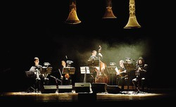 I musicisti del Marco Fusi Ensemble, protagonisti dello spettacolo di parole e musica dedicate al lago