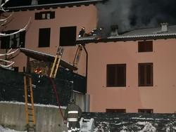 Magreglio, incendio in mansarda