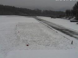 Neve ad Alzate Brianza (webcam aeroporto di Verzago)