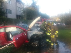 Montano - Incidente stradale in via Roma