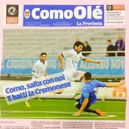 È pronto il nuovo ComoOlé Domani è gratis al Sinigaglia