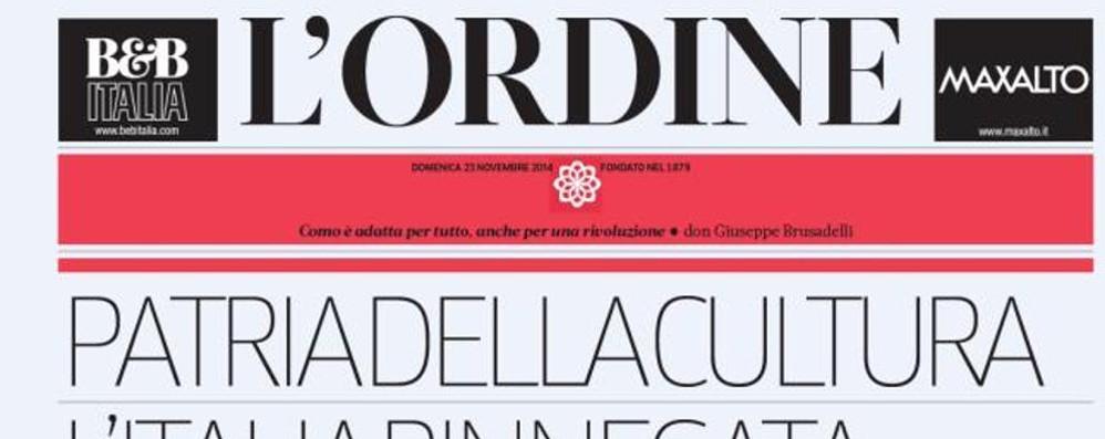"""Domenica su """"L'Ordine"""" arte, web, D'Annunzio e il derby"""