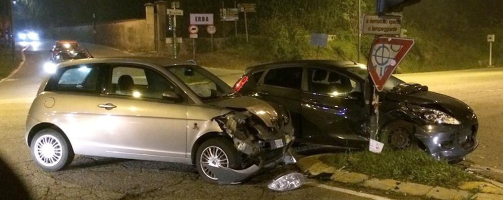 Erba, incidente a Casiglio