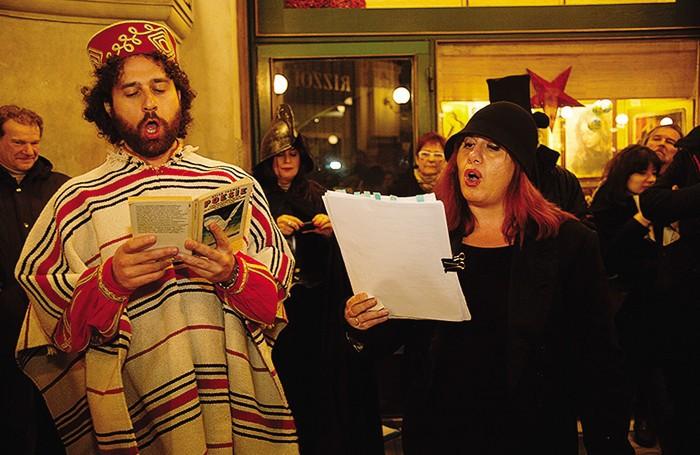Gianpaolo Mastropasqua travestito da Garibaldi (foto Dana de Luca)