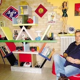 Vive in una casa museo  Tra radio e altri aggeggi