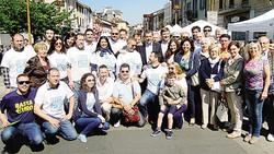 I leghisti in piazza Roma si stringono attorno al loro candidato sindaco