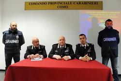 Como - Conferenza stampa dei Carabinieri per gli sviluppi sull'omicidio di Lidia Nusdorfi