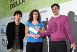 Montano Lucino Cinema UCI, premiazione concorso Ciakkare, soggetto dimmi cosa mangi e ti dirò chi sei: Silvia Cannarossi - La Puglia è la morte sua