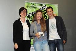 Montano Lucino Cinema UCI, premiazione concorso Ciakkare, Valentina Nichele - #Unilife e Simone Galli - Semplicemente Radio