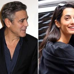 Clooney a cena alla Colombetta  In compagnia della fidanzata