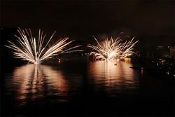 Cernobbio Villa Este fuochi d'artificio per la Festa Americana del 4 luglio