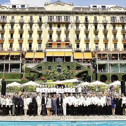Anche lo chef  Gualtiero Marchesi   alla festa del Gran hotel con 104 candeline