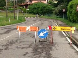 strada chiusa Cagno