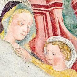 Erba, punta dipinto  gotico  nella chiesa del Settecento
