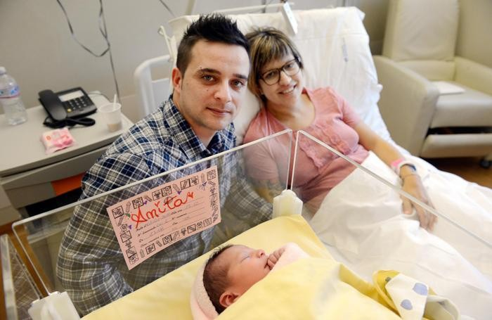 Il primo nato del 2015 all'ospedale Sant'Anna: Anita Miatello