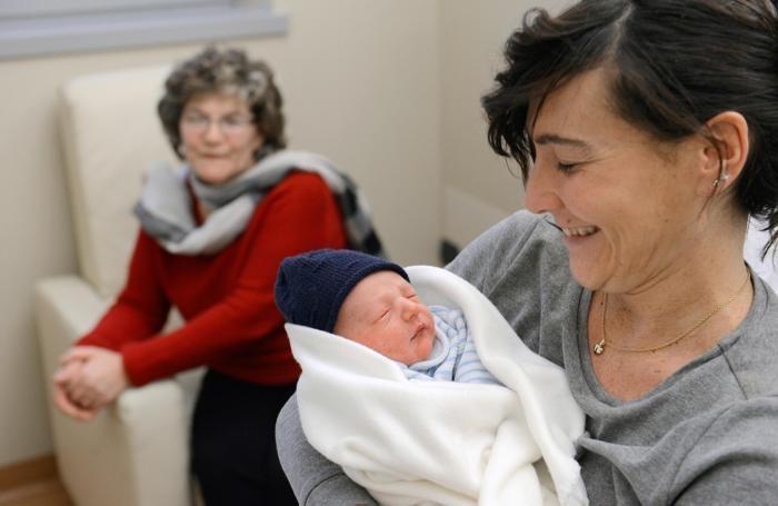 Como - l'ultimo nato del 2014 all'ospedale Sant'Anna: Sebastiano Gandola