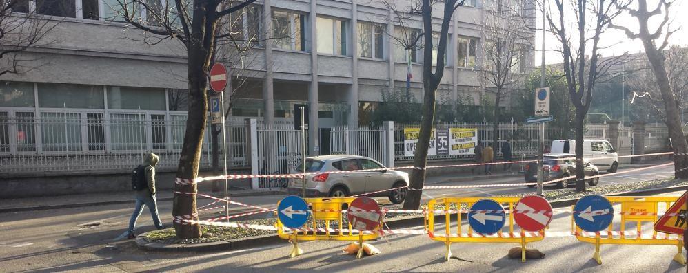 Viale Varese riapre mercoledì mattina