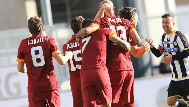 Serie A: la Roma vince 1-0 a Udine