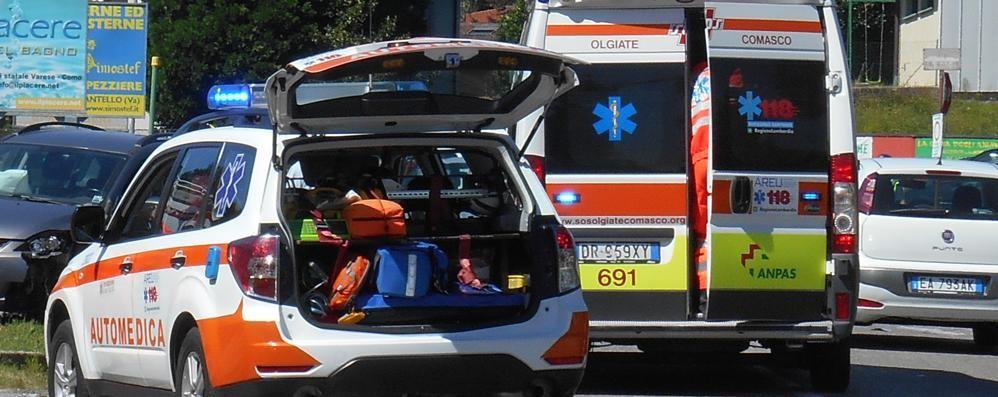 Due incidenti a Olgiate  Tre feriti non gravi