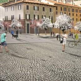 Nuova piazza Volta  Test sulla pavimentazione