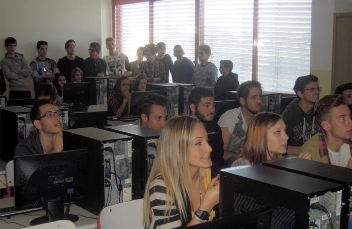 Gli studenti in aula