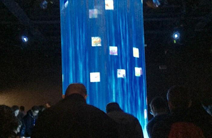 La cascata interattiva