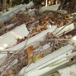 Amianto nei boschi del Bisbino  Cernobbio chiede più controlli
