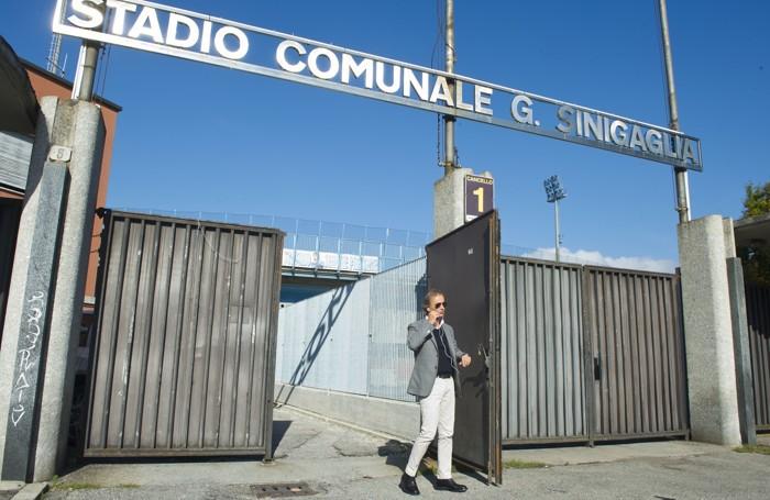 Como Pietro Porro presidente del Como Calcio esce dallo stadio Sinigaglia