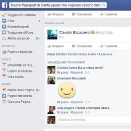 Palazzetto a Cantù, qualcosa si muove  Il sindaco fa il misterioso su Facebook