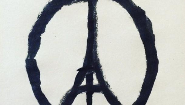 Spopola logo pacifista con Tour Eiffel