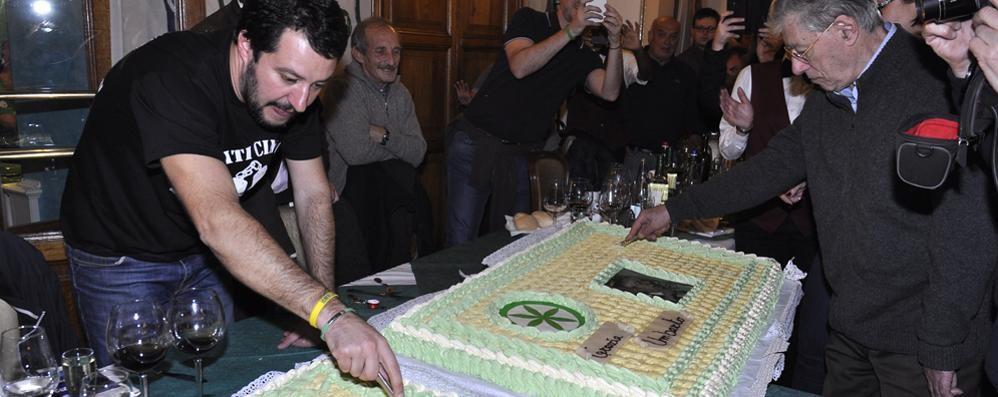 Salvini e Bossi a Griante  «La Variante serve subito»