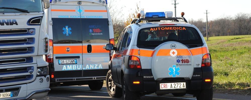Scontro a Fenegrò, quattro feriti