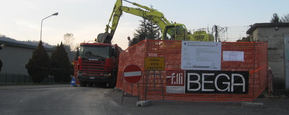 Croce Rossa, aperto il cantiere  La Valle Intelvi sarà più sicura