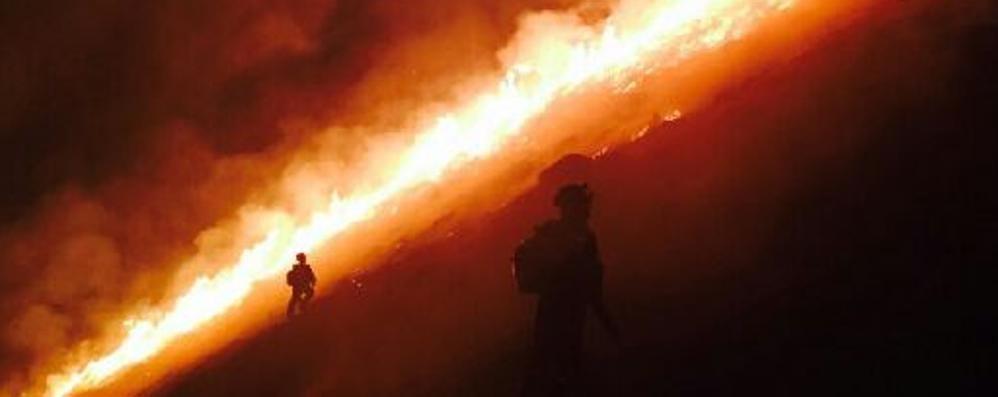 Incendio  a Dosso del Liro  È il quarto in una settimana