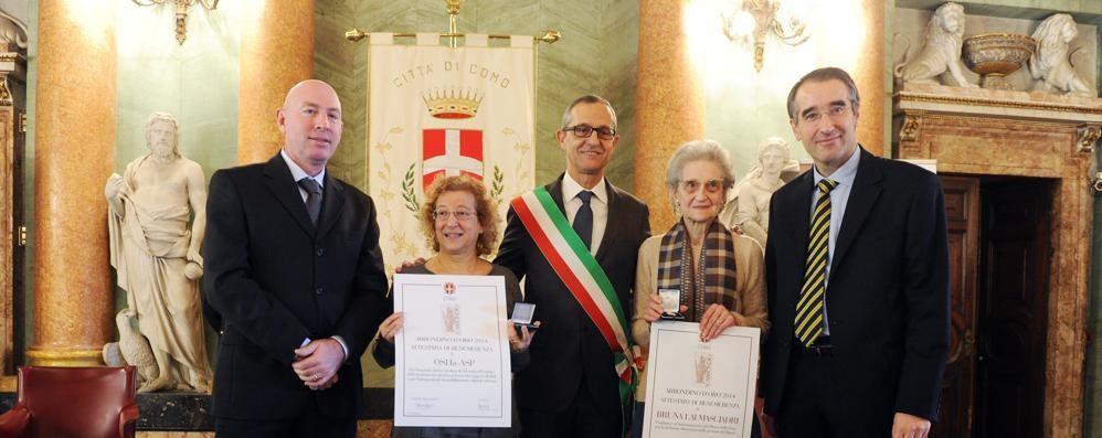 Abbondino d'oro a suor Maria Bianchetti, Lorenzo Marazzi e Abele Dell'Orto