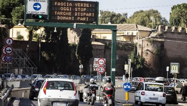 Smog: targhe alterne a Roma il 28 e 29