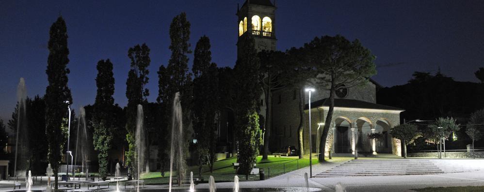 Santuario di San Fermo   Illuminazione da favola