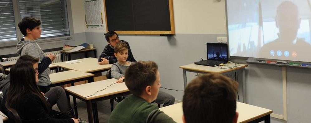 Lezione speciale a Lomazzo  In diretta dall'Antartide