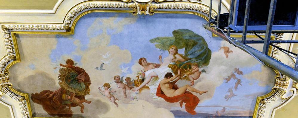 Villa Olmo, svelati gli affreschi «Lavori fino al 2017»