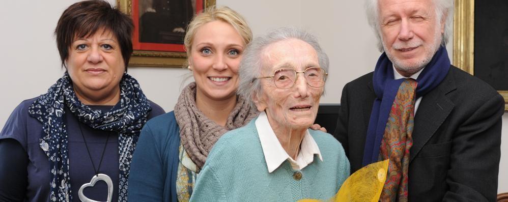 Addio a nonna Olimpia: aveva 109 anni  Era la decana della Provincia di Como