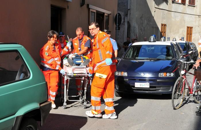Bulgorello.omicidio al bar Arcobaleno - I soccorsi a Franco Mancuso
