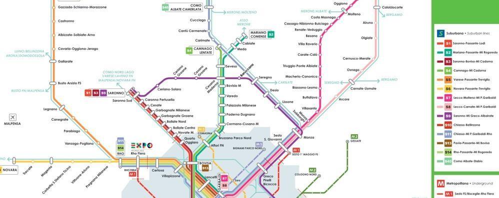 Da Como a Expo: 73 treni al giorno