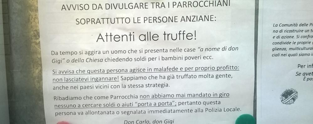 Raccoglie denaro in nome di don Gigi  La truffa corre per Menaggio