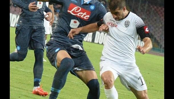 Calcio: Napoli-Cesena 3-2