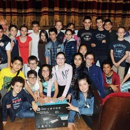 Como teatro Sociale premiazione Cartolandia 2015, scuola media Massina di Como