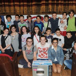 Como teatro Sociale premiazione Cartolandia 2015, istituto Don Milani Perticato di Mariano Comense
