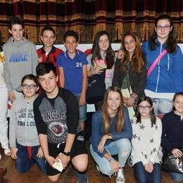 Como teatro Sociale premiazione Cartolandia 2015, scuola Magistri Intelvesi di S.Fedele Intelvi