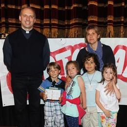 Como teatro Sociale premiazione Cartolandia 2015, scuola di Vercana