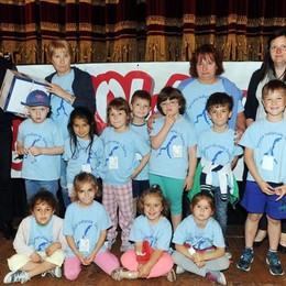 Como teatro Sociale premiazione Cartolandia 2015, scuola d'infanzia di Sorico